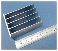 Super thin shapes, like those of heat sink fins.